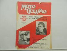 Vintage August 1954 Moto Ciclismo Magazine Carlo Bandirola Lambretta L6391