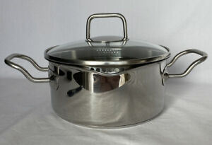 NorPro Krona 3 QT Stainless Steel Vented Pot With Straining Lid Nice!