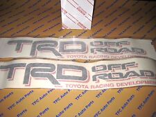2 Toyota Tacoma TRD Off-Road Bedside Decals Black-Red Tacoma Tundra 4Runner OEM