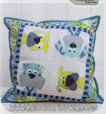PATTERN - Woofers - cute applique dogs cushion PATTERN - Claire Turpin