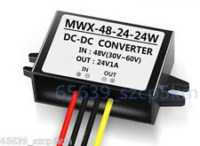 Waterproof Buck Converter Step Down Module Power Supply 36/48V to 24V 1A 24W