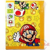 Set x 2 Folders + 2 Bookmarkers Mario Luigi Peach Yoshi Toad Club Nintendo NEW