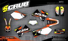 SCRUB KTM EXC 125 200 250 300 400 520 1998-2002 Grafik Dekor-Set