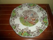 Copeland Spode Byron Series 1, Four Section Vintage Tea Party Sandwich Plate