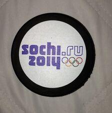 UNSIGNED 2014 SOCHI OLYMPIC PUCK TEAM SWEDEN USA CANADA RUSSIA FINLAND
