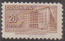 (Co110)1952 Colombia 20c brown Po Bogota Mng ow756