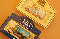 Rare Models of Promotion Comm. Royal Mail Van and Two Tone Blue Tetley Tea Lorry
