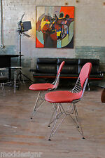 HERMAN MILLER EAMES WIRE CHAIR WITH BIKINI LEATHER  DKR.2 (2)