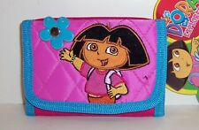 Licensed DORA the Explorer Pink & Blue Tri-Fold WALLET PURSE Card Case NEW!