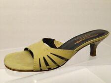 Donald J. Pliner Couture womens slide heels pumps shoes green suede Size 7 1/2 M