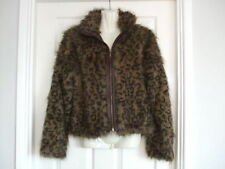 Fits Size 10 Womens Animal Style Print Faux Fur Winter Jacket Evening Ladies