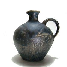 Signierte Studio Keramik Vase im Bauhaus Stil Vintage German Art Pottery