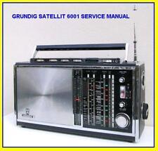GRUNDIG SATELLIT 6001 SHORTWAVE  SERVICE MANUAL