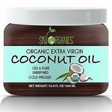 100 Pure Coconut Oil Organic Unrefined Extra Virgin For Hair Skin Face Cooking