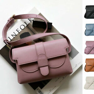 Convertible Real Leather Small Belt Bag Sling Pack Crossbody Clutch Fanny Pack