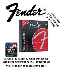 *FENDER 250L LIGHT ELECTRIC GUITAR STRINGS (9-42 GAUGE, 3 SET VALUE PACK!)*