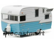 GREENLIGHT 1:24 18229 SHASTA 15' AIRFLYTE CAMPER TRAILER DIECAST MODEL BLUE NEW