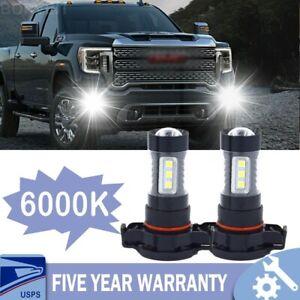 2x 100W H16 5202 LED Fog Light Bright White Bulbs For GMC Sierra 1500 Yukon