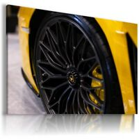 LAMBORGHINI AVENTADOR YELLOW Sports Cars Wall Art Canvas Picture AU845 MATAGA