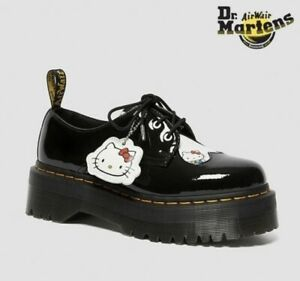 US5.5 UK4 Dr. Martens x Hello Kitty 60th Anniversary Platform 3 Hole Boots QUAD