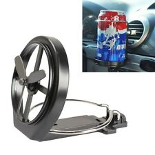 Universal Car Truck Wind Air-Outlet Folding Cup Bottle Drink Holder Stand w/Fan