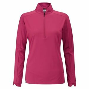 Ping Ladies Melrose Golf Top Long Sleeve Red Bud Size 10