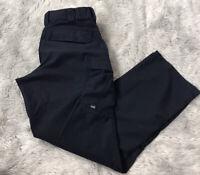 5.11 Tactical Navy Blue Cargo Pockets Poly Cotton Uniform Work Pants Women's 8