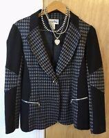 Joseph Ribkoff Designer Couture Houndstooth Jacket Size 10