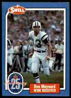 1988 Hall of Fame BLUE #134 Don Maynard RARE New York Jets / Texas El Paso UTEP