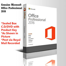 Microsoft Office Professional 2016 Sealed box Pack DVD + Product Licence