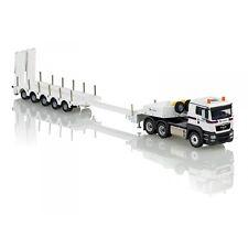 CONRAD 1/50 CAMION MAN TGS 3 essieux  avec porte-char 5 essieux transport Cardem