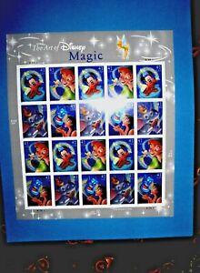 The Art of Disney, Magic, Pane of 20, Mint, 8/16/2007, 41 cents, Self-Adhesive !