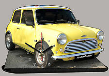 MODEL CARS, AUSTIN COOPER -04, car passenger,11,8x 7,8 inches  with Clock