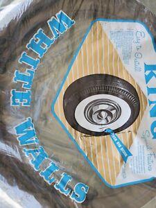 "Style king 15"" White Wall Portawall Tire insert trim set of 4 Flapper Sidewall."