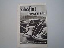 advertising Pubblicità 1938 OLIO FIAT