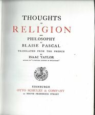 Thoughts on Religion, Blaise Pascal,    Schulze, Lighthouse Library