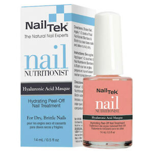 Nail Tek Nail Nutritionist Peel-Off Nail Masque with Hyaluronic Acid New Boxed