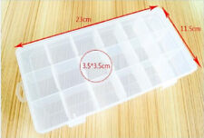 18 Cells Slot Transparent Storage Box Cover Shell Electronics Component Box
