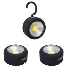 COB LED Light Torch Worklight Camping Magnet Hanging Hook Rubber Coated SET OF 3