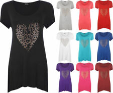 Heart Party/Cocktail Short Sleeve Tops & Shirts for Women