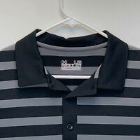 Under Armour Heatgear Mens Striped Golf Polo Black Large