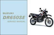 1996-2009 Suzuki DR650SE Service Manual on a CD