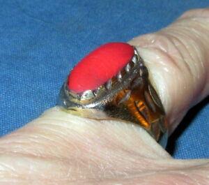 Ring Size 7 Carnelian Gemstone Afghan Kuchi Tribal Alpaca Silver