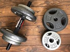 NEW 50Lb Adjustable Cap Dumbbell Set (4) 7.5Lb Plates 8 - 2.5Lb 2 Metal Handles
