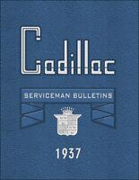 1937 Cadillac Service Bulletins Shop Manual Updates V8 V12 V16 LaSalle La Salle