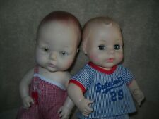 2 Vtg Sweet Boy Baby Dolls~Horsman 1962 Baseball & Eegee #3 In Red Sun Suit,
