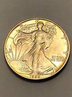 1988 AMERICAN EAGLE Silver Dollar Coin 1oz Fine Silver Walking Liberty