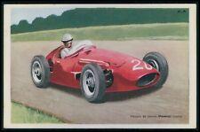 Maserati Italy Automobile motor racing car race original 1950s Tobler postcard