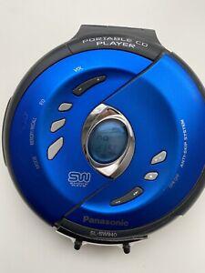 Panasonic Portable CD Player Shockwave SL-SW940 Cobalt Blue Works!