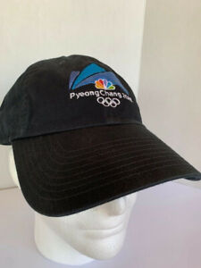 PyeongChang 2018 Embroidered Olympics Hat by Nike Cap NWT Black